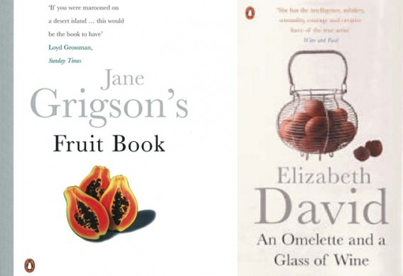 Jane Grigson and Elizabeth David Cook books.