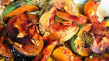 roast squash garlic and thyme