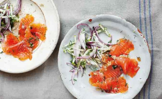 Whiskey and brown sugar-cured gravlax » Diana Henry