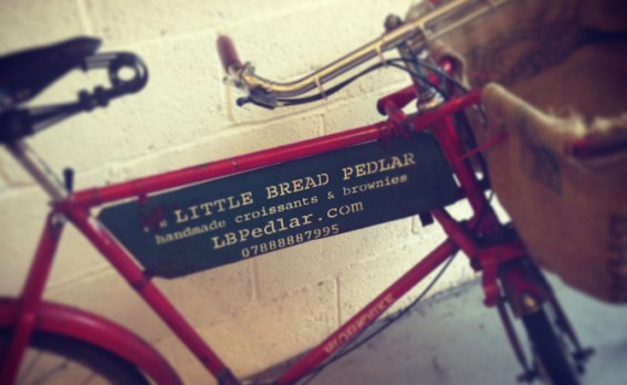 Bike with Little Pedlar sign.