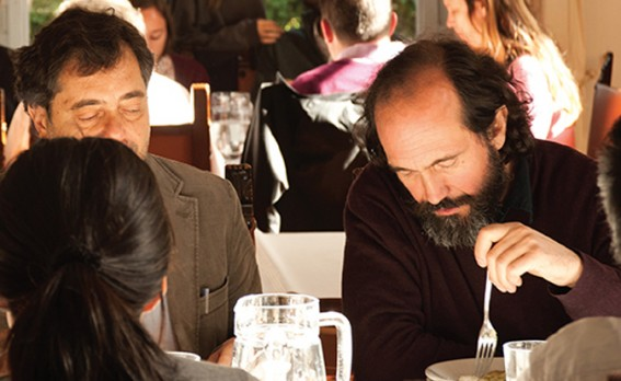People sitting eating in a restaurant