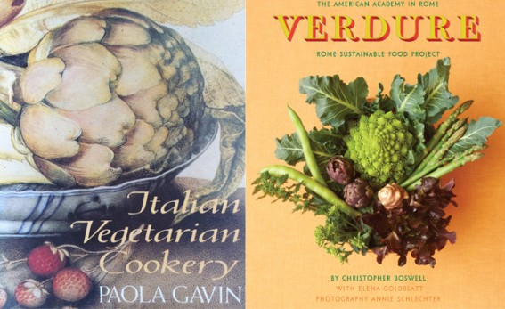 two book covers Italian vege cooking and Verdure.