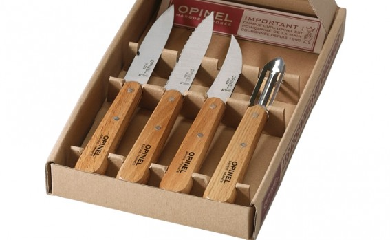Opinel knives in a wooden box